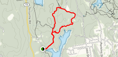 Mile of Ledges and Tory Den Trail Map