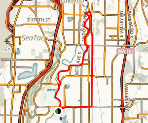 Lower Green River Trail Kent to Tukwila Map