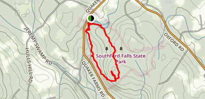 Southford Falls Park Trail Map