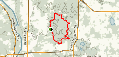 Cannonsburg State Game Area Singletrack Map