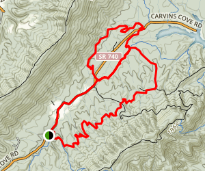 Four Gorge Trail Map