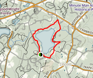 Sandy Pond Trail Map