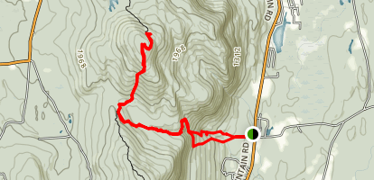 Race Brook Falls and Mount Everett Map
