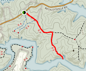 Prettyboy Reservoir Logging Road Trail Map