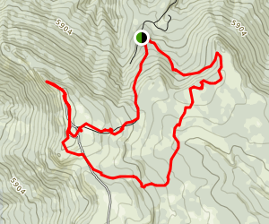 Independent Mine to Lookout Mountain Summit Trail Map