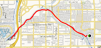 Glendale Canal Map