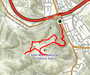 Muir Farm And Mount Wanda: John Muir Nature Trail Map