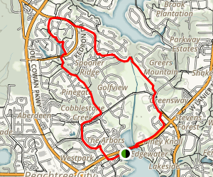 Peachtree City Cart Path Trail Map