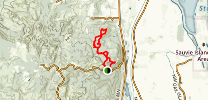 Scapoose Mountain Bike Trail Map