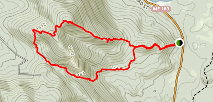 Burnt Meadow Mountain Trail Map