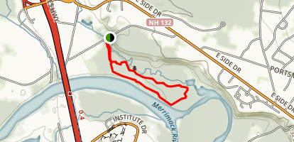 Merrimack River Outdoor Education and Conservation Area, Les Clark Nature Trail Map