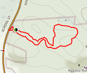 Agassiz Rock Trail Map
