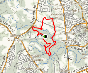 Lenape Loop South, Middle Run Natural Area Map