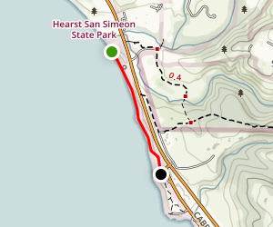 San Simeon State Beach to Oceano Campground Map