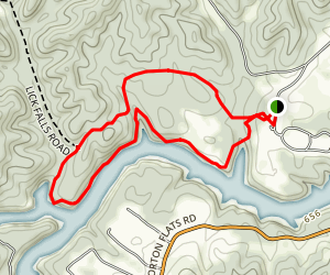 Lick Falls Trail Map