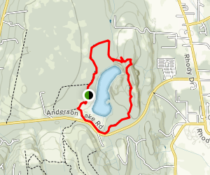 Anderson Lake Trail Map