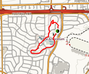 Los Angeles Arboretum Trail Map