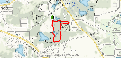 Lakewood Forest Preserve Trail Loop Map