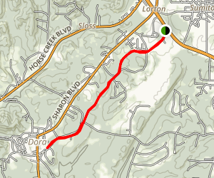 Horse Creek Walking Trail Map