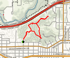 Tandy Hills Trail Map