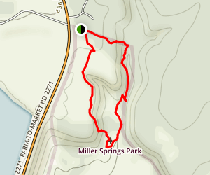Miller Springs Nature Center Trail [CLOSED] Map