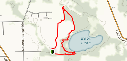 Boot Lake Trail Map