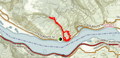 Coyote Wall Loop Trail Map