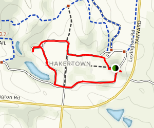 Shakertown at Pleasant Hill Trail Map