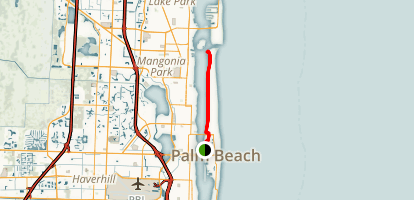 Lake Trail, Palm Beach (Trail of Conspicuous Consumption) Map