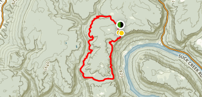 Cumberland Trail - Mullens Cove Loop Trail Map