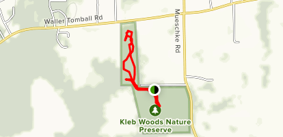 Kleb Woods Nature Preserve Trails Map