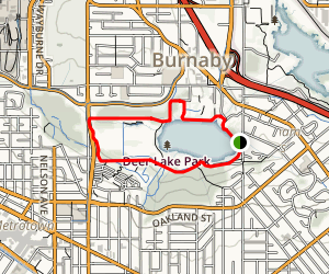 Deer Lake Trail Map