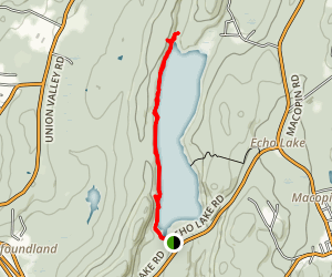 Echo Lake West Trail Map