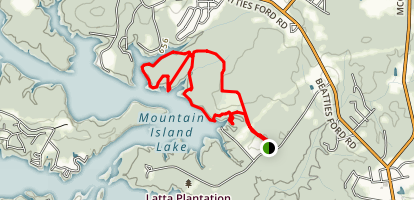 Latta Plantation Trail Map