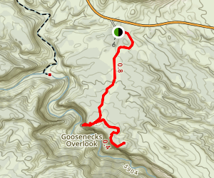 Goosenecks & Sunset Point Map