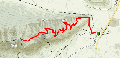 Philmont Road Trail [PRIVATE PROPERTY] Map