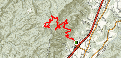 Pinnacle Mountain Fire Tower Trail Map