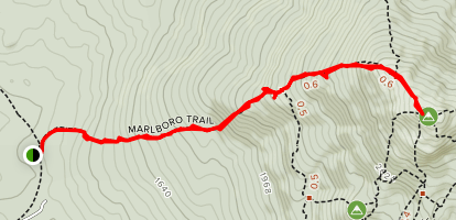 Monadnock Mountain Via Marlboro Trail Map