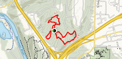 Broken Ridge, Hickory Ridge and Tanglevine Trail Loop Map