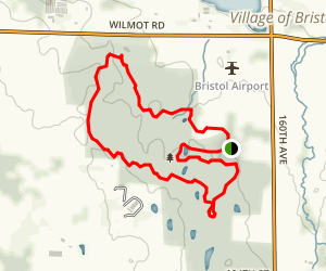 Bristol Woods Hike Trail Map