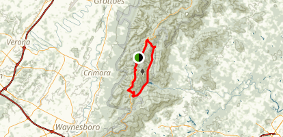 Moormans River Overnight Loop via Appalachian Trail Map