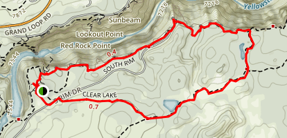 Clear Lake Artist's Point Loop Trail Map