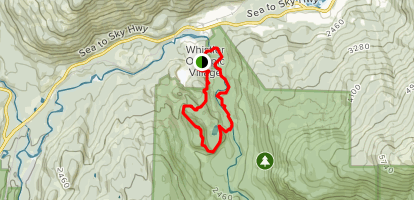 Crater Rim and Farside Loop Trail Map