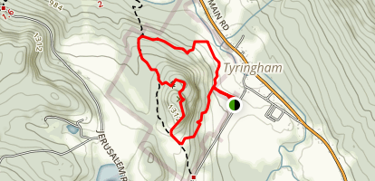 Tyringham Cobble Trail Map