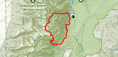 The Grand Teton Loop Trail Map