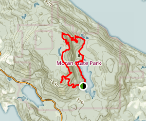 Mount Constitution Loop Trail Map