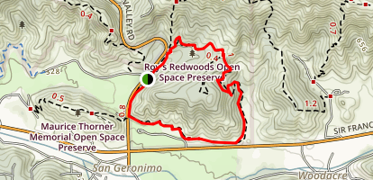 Roys Redwoods Map