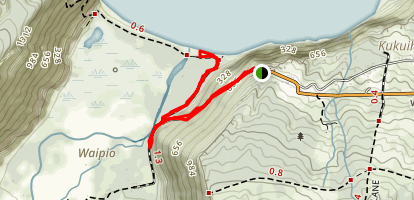 Waipio Valley Trail Map