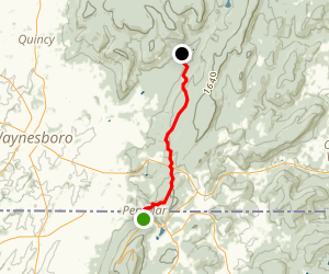Appalachian Trail: Pen Mar County Park, MD to Old Forge Picnic Grounds Map