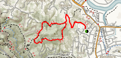 King Mountain Loop Trail Map